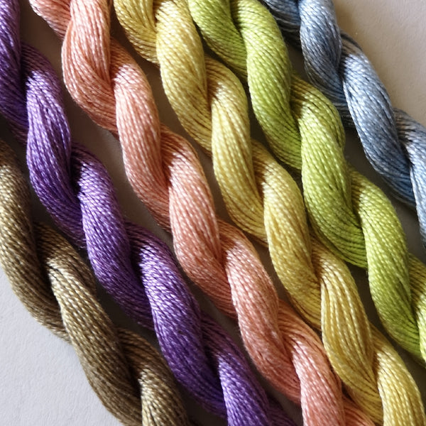Paint Box Threads - 6 Pack of Hand Dyed Cotton Threads