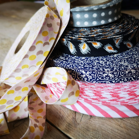 Organic Cotton Bias Binding - Patterned