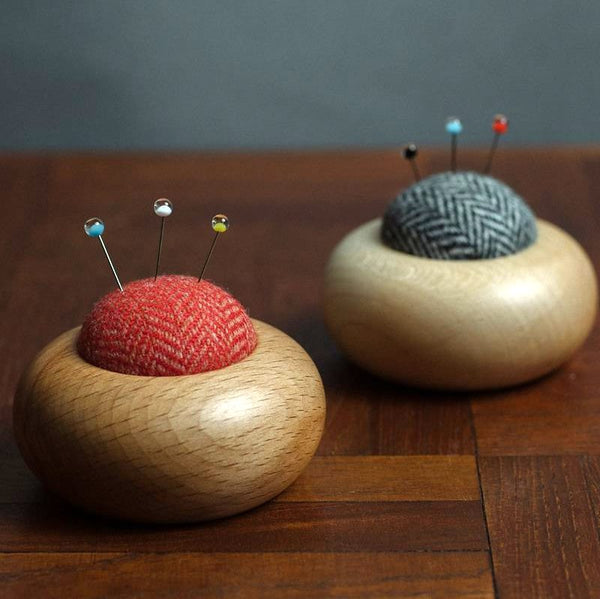 Turned Wooden Pincushions - Small