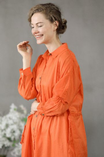 Bee 11 | loose shirt in orange