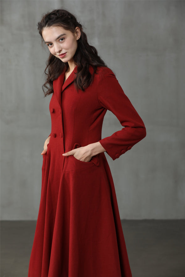 Roman Holiday 2020 | Red Wool Coat Jacket