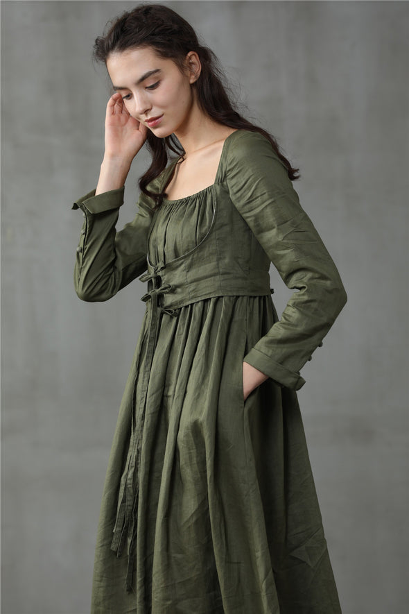 ANIS 25 | Corset-esque Olive Green Dress