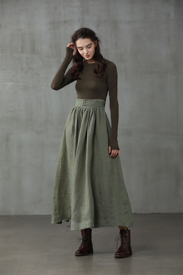 Hannah 38 | Girdle heavy linen skirt