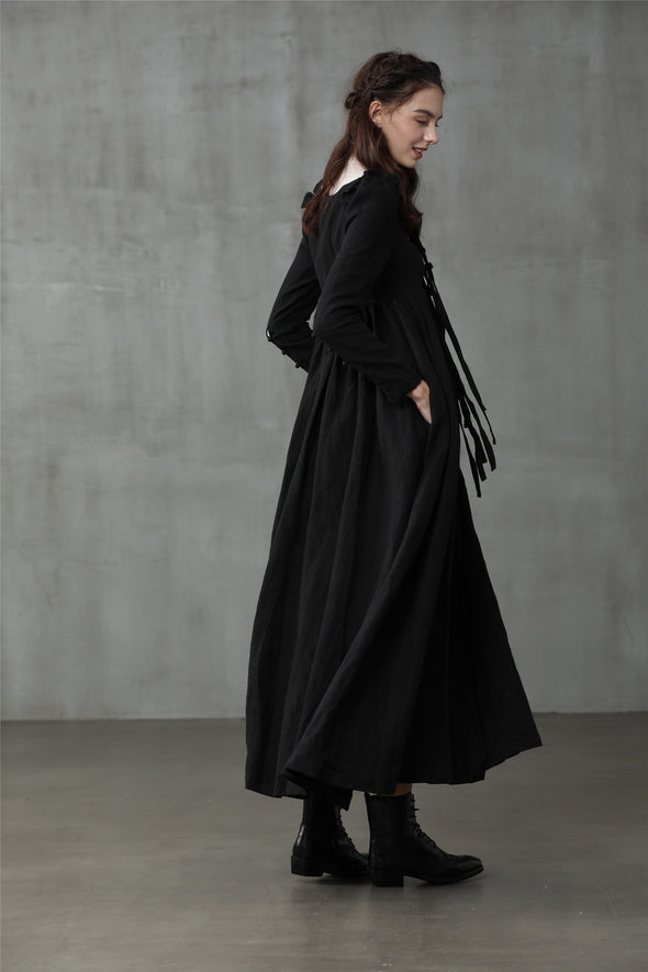 Mulan 20 | Long heavy linen coat