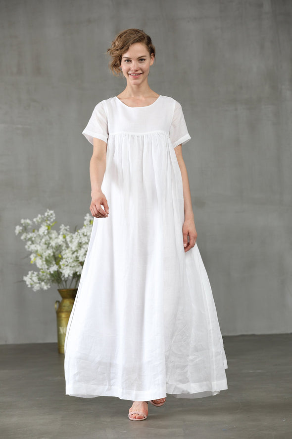 Foxtail lily 11 | empire linen dress