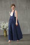 linen halter dress, maxi apron dress | Linennaive®