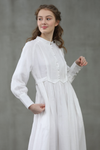 Jasmine 23 | white linen dress puff sleeve