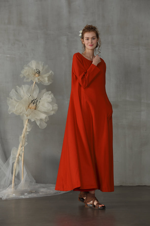 Agarwood 25 | red winter dress