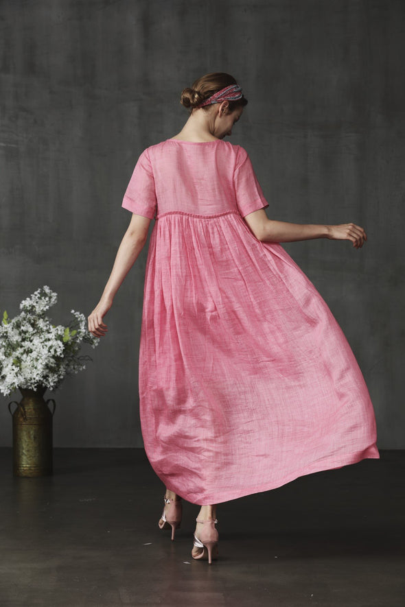 IRIS 20 | jasminelinen empire dress in pink