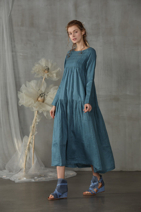 linen dress with pockets Kate Middleton dress | Linennaive®