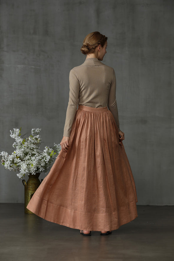 Oil painting 37 | maxi linen skirt