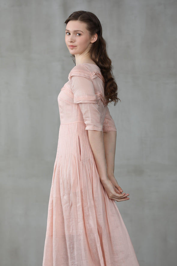 luscious pink maxi dress | Linennaive