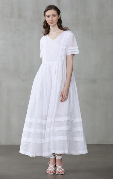 white linen dress | Linennaive®