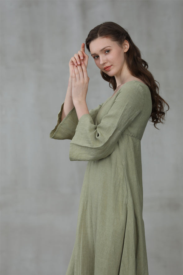 Medieval dress, linen dress, maxi dress | Linennaive®