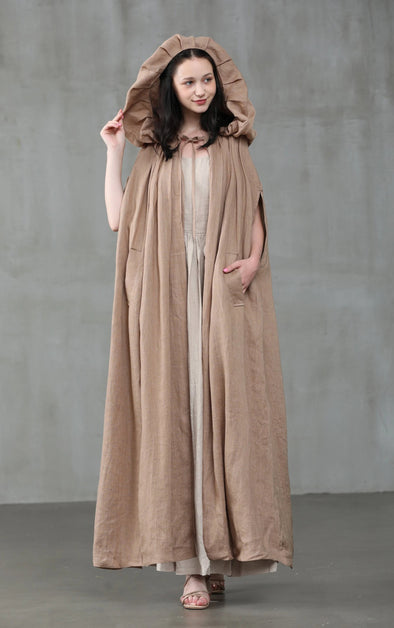 Perfumer 33 | hooded maxi cape coat