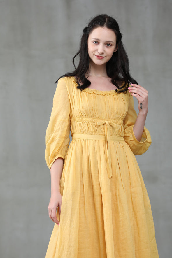 Osmanthus 01 | Tiered Linen Dress