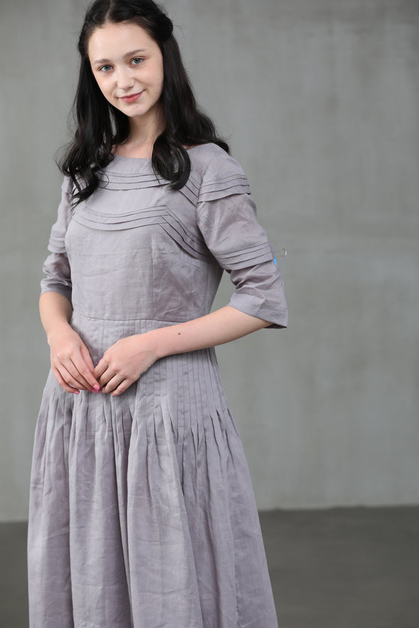 Cherry 23 | MistyGray Linen Dress