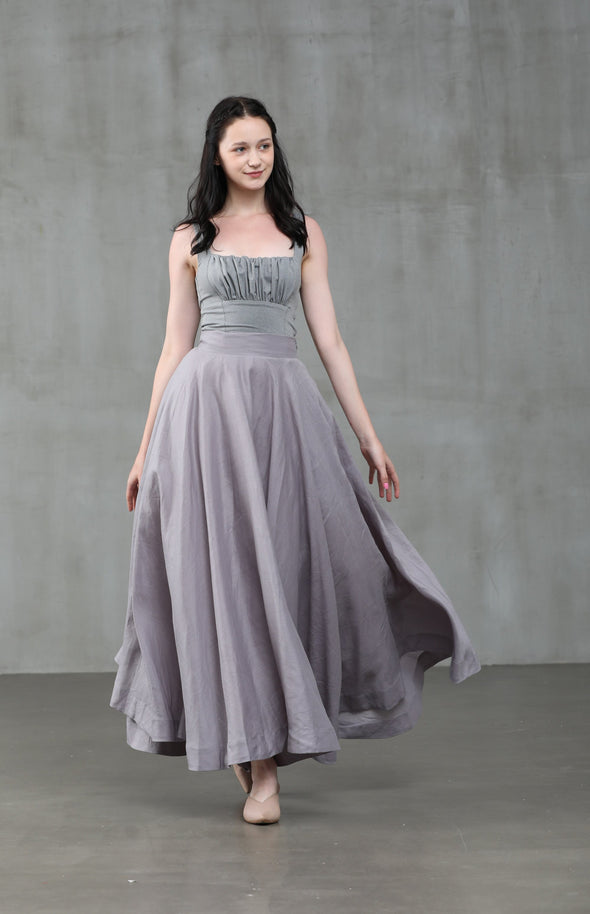Cherry 22 | silver gray skirt