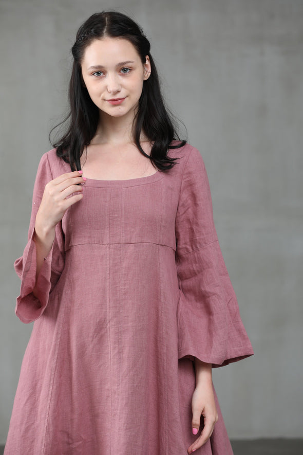 Lisianthus 14 | Ashed Lilac Linen dress