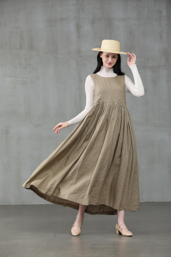 Ear of wheat 33 | Apron linen dress