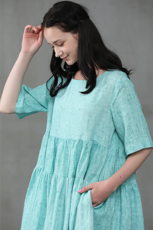 Enamel 25 | loose linen dress