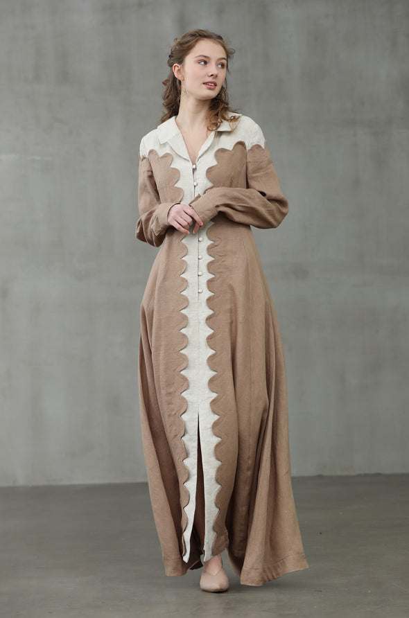 Musk in Ceramic Vase 09 | collared linen dress