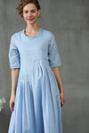 maxi linen dress in light blue | Linennaive®