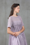 Iris 20 | empired linen dress, soft lilac dress