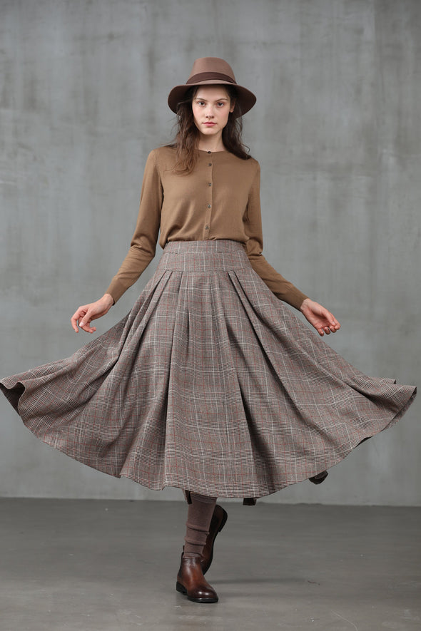 Another 13 | check wool skirt