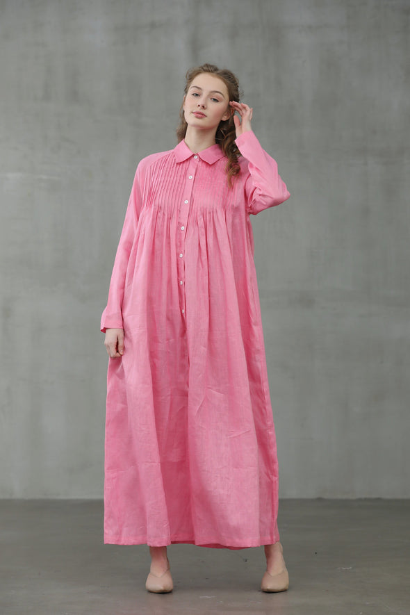 Rose 17 | linen dress Shirt Dress