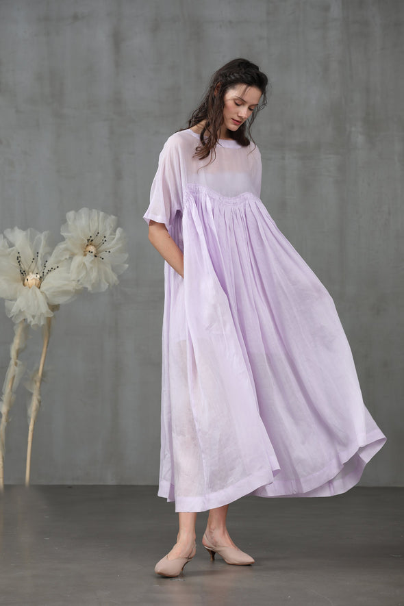 Patchouli 63 | linen dress in thistle