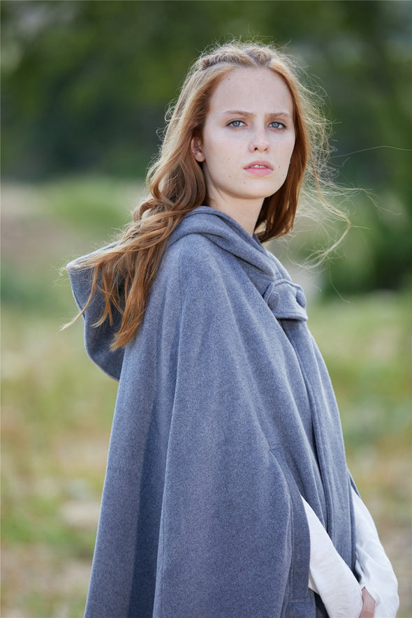 The New Yorker | Hooded Cashmere Cape