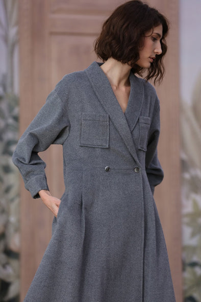 100% Cashmere Coat, Wool Coat
