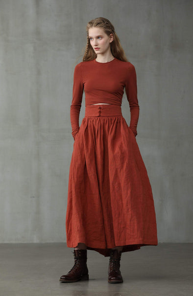 Hannah 38 | heavy linen skirt