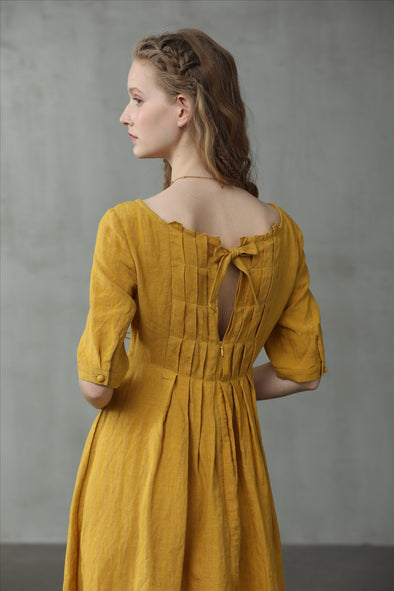 Sunflower Farms 10 | Midi Linen Dress