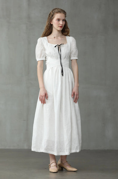 Blossom 14 | Ivory Linen Dress