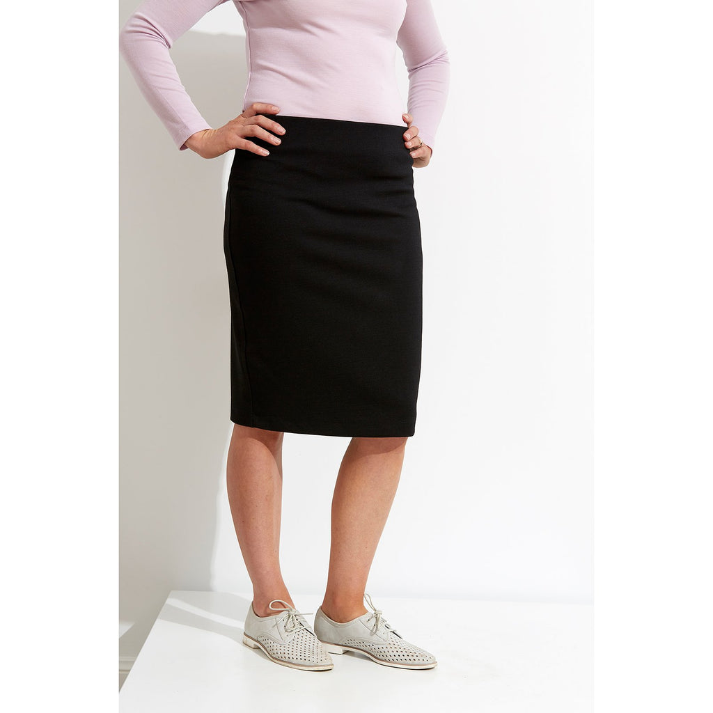 Woolerina Ponte Skirt - Black