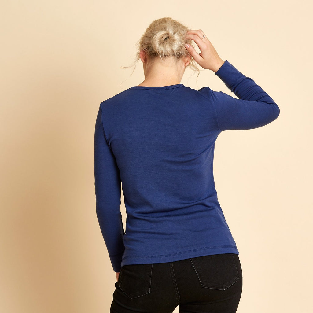 Woolerina Merino Crew Neck - Bright Navy