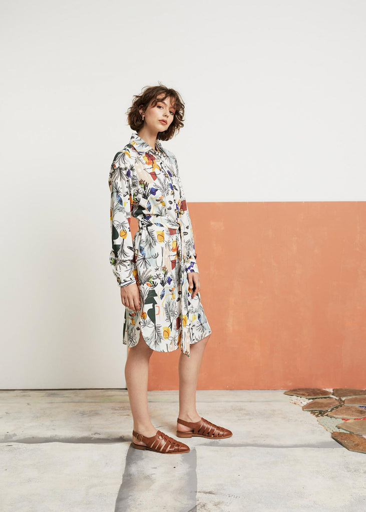 Wolf and Mishka Edie Shirt Dress - Porto