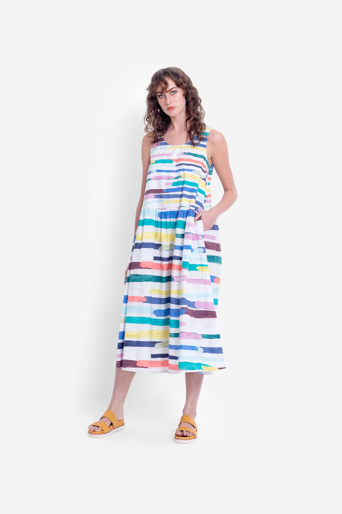 Elk Elme Dress - Painted Stripe