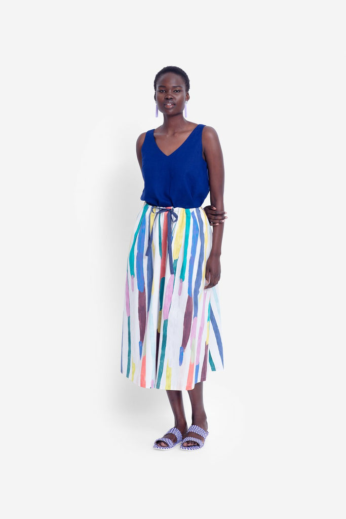 Elk Elme Skirt - Painted Stripe