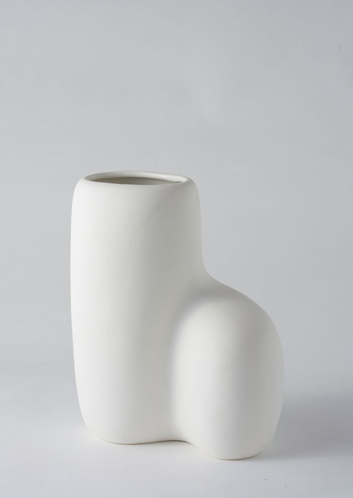 Angus & Celeste Art Form Vase - Large White