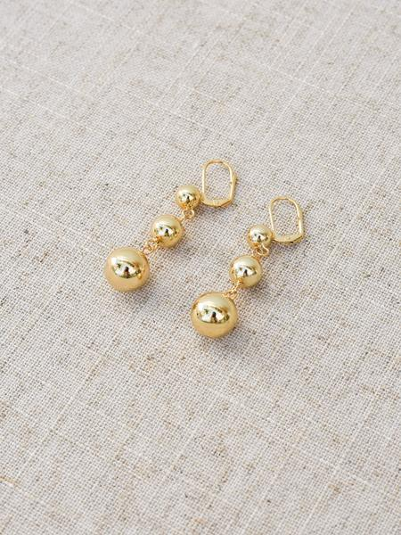 Kitsense Cere Luxe Trio Ball Earrings