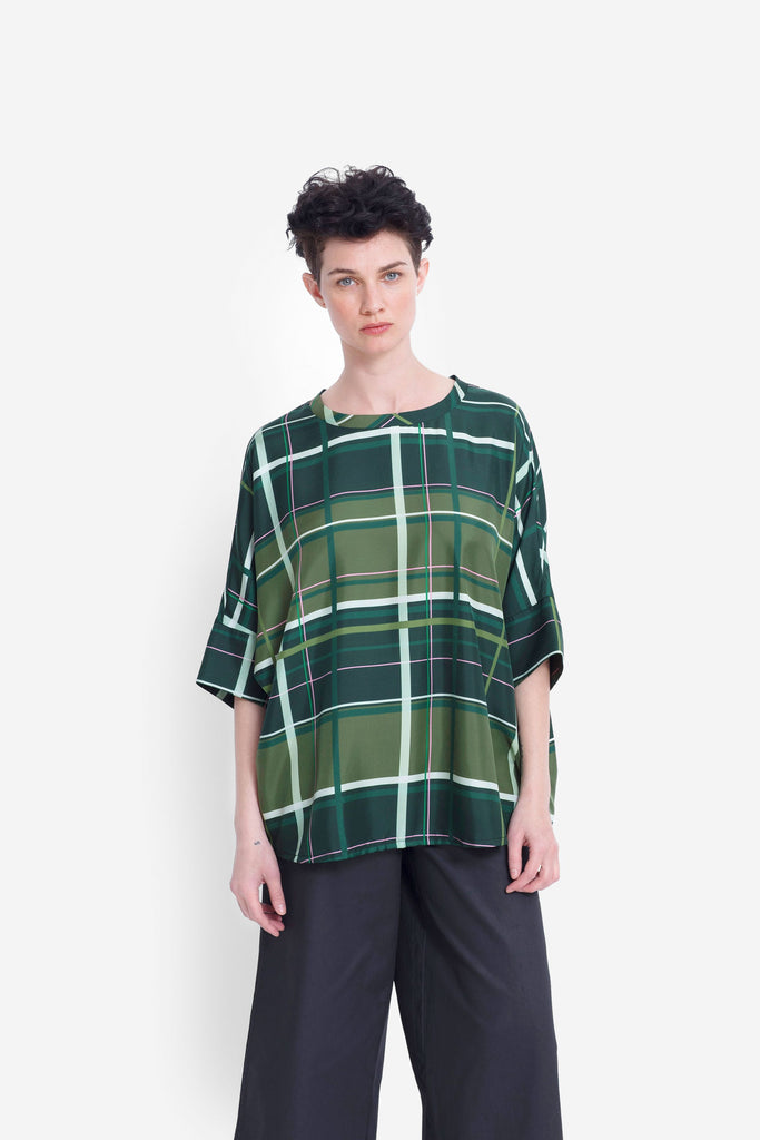 Elk Elin Top - Green Check