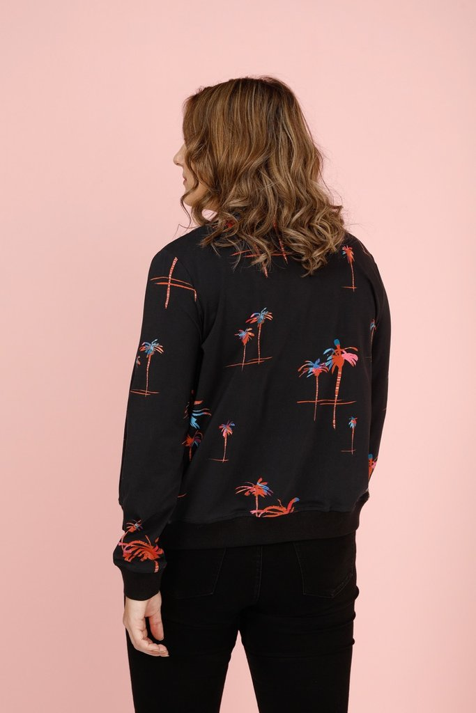 Frock Me Out Palm-A-Rama Bomber Jacket