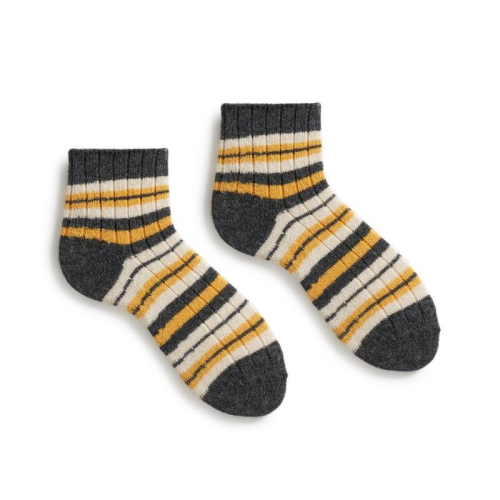 Lisa B Shortie Wool Socks - Striped