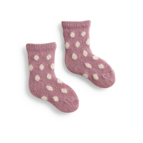 Lisa B Wool Baby Socks - Dot