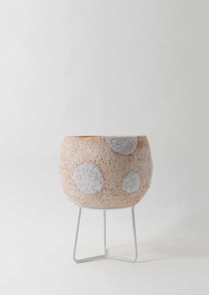 Angus & Celeste Boulder Pot - Brown Spot