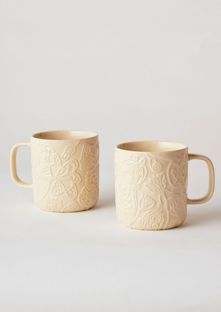 Angus & Celeste Imaginary Botanical Mug Set - Clay