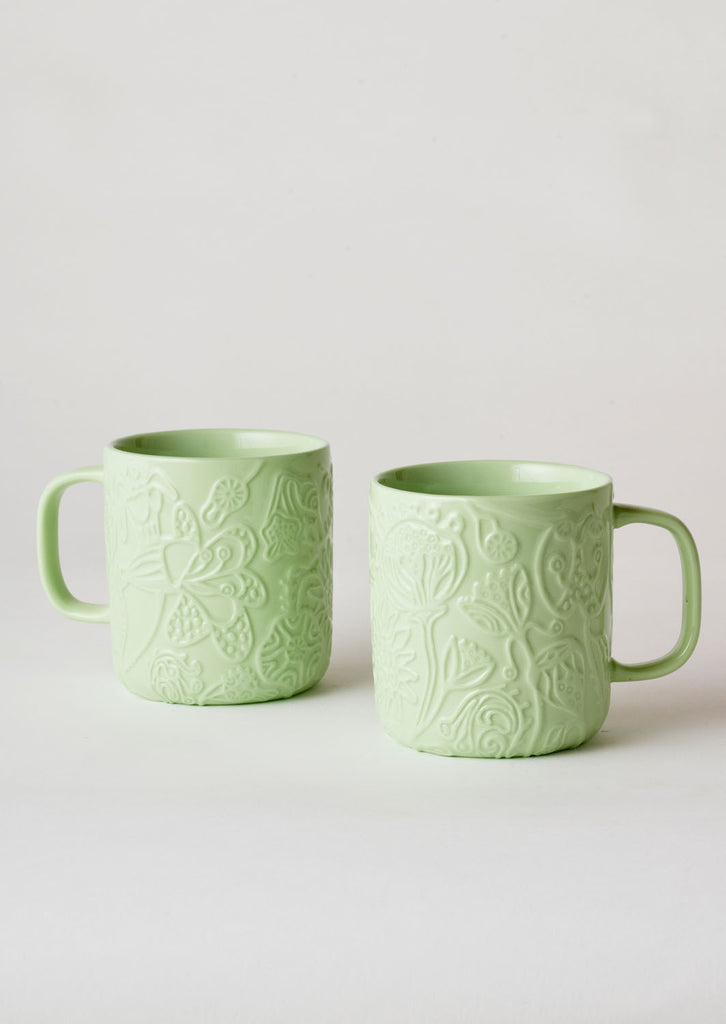 Angus & Celeste Imaginary Botanical Mug Set - Green